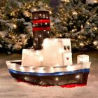 Rudolph Misfit Toy Boat Sculpture 3 D Lighted Outdoor Christmas Yard Decoration
