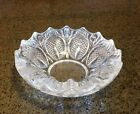 Vintage Pressed Glass Trinket Dish Ashtray - Scallop Rim, Hobnail Sandwich Desig