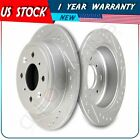 2x Rear Slotted Brake Rotors For Acura Integra Honda CRX Hatchback Prelude