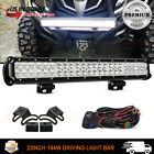 23 Inch LED Light Bar + 2x Cube Pods Kit Fit UTV ATV CFmoto ZForce 600 800 1000