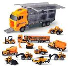 11 in 1 Die cast Construction Truck Vehicle Car Toy Set Play Vehicl