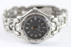 Tag Heuer WG1113-0 Professional Men's Stainless Steel Gray Link Watch MSRP $2000