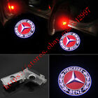 2x LED Red Logo door welcome Projector light Kit For Mercedes-Benz CLS CLA C207