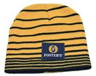 Foster's Australian Lager Striped Knit Winter Beer Hat Beanie Toque Skull Cap
