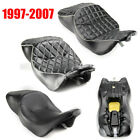FLHT Leature Two up Seat Saddle For Harley Davidson Electra Glide Standard 97 06