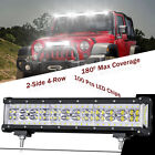 12 500W Side Shooter 9D Quad Row LED Light Bar Spot Flood 6000K Driving ATV SUV