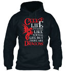 Geek Life Kinda Normal But There Are Dragons - Ceek Its Standard College Hoodie