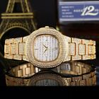 Iced Out 14k Gold Patek Watch