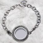 Living Memory Locket Bracelet Crystal Floating Charms Bracelet for Friends Girls