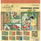 GRAPHIC 45 SCRAPBOOK PAPER PAD Christmas Magic 12x12 Double Sided Card Stock