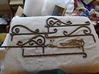 Vintage Antique Cast Iron Art Decco Curtain Rod Swing Holders Window Bracket