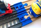 TrainLab TrackMaster (14-cur) Track to Wood Train Track Adapter Thomas BRIO Blue