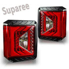 For 2007 2018 Jeep Wrangler JK JKU Rival Series LED Taillights With Red Lens
