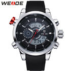 WEIDE Men Watches Luxury Quartz Digital LED Sport Watch Silicone Bracelet Watch