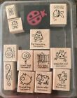 STAMPIN UP VERY PUNNY SET USED 10 10