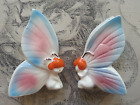 Vintage Japan Anthropomorphic Salt and Pepper Shakers Butterfly Girls Fairies