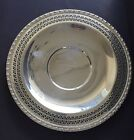 Round Reticulated Silver Plated Serving Plate with Gadroon Edge Vintage 12.5
