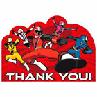 Power Rangers Ninja Steel Party Supplies Thank You Cards 8ct.