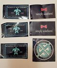 Simply Southern Lot of 6 shirt tee Stickers Turtle Bow SS Stickers New Unused