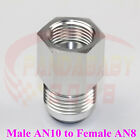 TANK EXPENDER FITTING REDUCER ADAPTER STRAIGHT MALE AN10 -10 TO AN8 -8 FEMALE SL