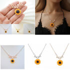 Fashion Sunflower Pendant Sun Flower Rose Gold Necklace Chain Jewelry Gifts