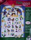 NATIVITY Christmas Felt Advent Calendar Kit 8149 Manger Morehead Dimensions