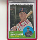 2012 TOPPS HERITAGE WILL MIDDLEBROOKS RED INK #07 10