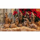 Evergreen Enterprises Nativity Set with Natural Finish and Metallic Accent