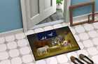 Animals at Crib Nativity Christmas Scene Indoor or Outdoor Mat 24x36