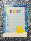 10 Baby Shower Invitations Unisex Rubber Ducky Fill In Yourself With Envelopes