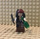 NEW LEGO Jack Sparrow Minifig with Knife and Bottle JS24 - FAST SHIP