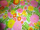 FLOWER POWER DESIGN ON WHITE COTTON PIQUE FABRIC MANES CO