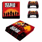 PS4 Slim Aufkleber RED DEAD REDEMPTION 2 Skin für Sony PlayStatin 4 Slim Konsole