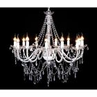 Chandelier Glass 1600 Crystals Candle Stick Dangling Droplet 12 Flames Light New