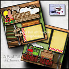 Disney Big Thunder Mountain Railroad 2 premade scrapbook pages paper Cherry 0007