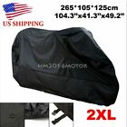 XXL Waterproof Motorcycle Cover For Honda Shadow ACE AERO 750 1100 VT1100 Black