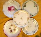 5 VTG Mixed China Floral Side Luncheon Cake Salad Party Bridal Shabby Chic Plate