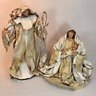 Vintage Large Nativity Set Joseph Mary Jesus Paper Mache Unique MSRP 10899