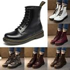 Womens Motorcycle Martin Boots Casual Leather Knight Ankle Shoes Military Boot