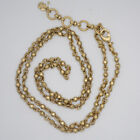 Lucky brand jewelry vintage gold plated little beaded necklace chain for women