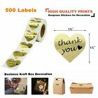 500Pcs Thank You Stickers Birthday Xmas Wedding Gift Envelopes Labels Gold Foil