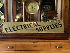 ELECTRICAL SUPPLIES BRASS SIGN ,  SELDOM SEEN , PERFECT ORIGINAL CONDITION