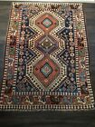Early Antique Oriental Area Floor Rug Great Colors