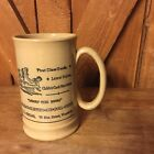 Vintage Clay Mug Stein Advertising Shoes Shoe Store Made In England Beer Grog