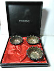 New w/ Defect TOWLE Silver Plate Box Set w 3 Nut Candy Cups Bowls (missing one)