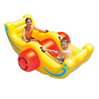 Sea Saw Rocker 2 Seat Yellow Inflatable Ride On Swimming Pool Toy and Float