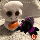 TY Beanie Boo Ghost SEEKER Is TySilk & Spider CREEPER Lot Of 2 /6