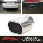Universal Car Stainless Steel Oval Round Exhaust Pipe Tail Muffler Modification