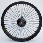 Black  Chrome 48 King Spoke 23 x 35 Front Wheel for Harley and Custom Models