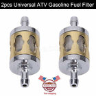 2x Motorcycle Universal 6mm 7mm 3/16 Inline Gas Carburetor Engine Fuel Filters